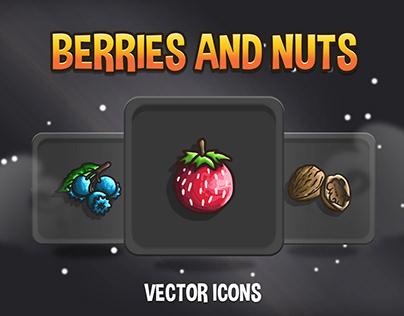 Berries And Nuts Icon Pack