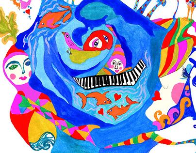 BLUE Rose & The Flying Unicorn