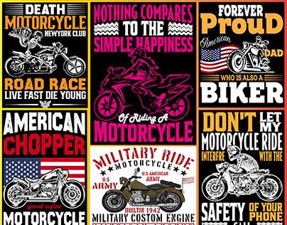 Motorbike T Shirt Design Bundle