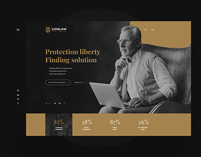 LionLaw - PSD Template Design
