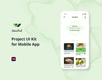WiseFood Project UI Kit FREE for Adobe XD
