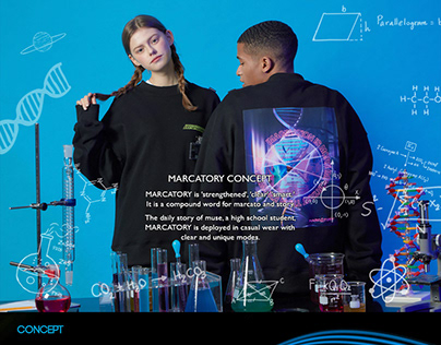 MARCATORY 20S/S 'Science class vol.01' Graphicdesign
