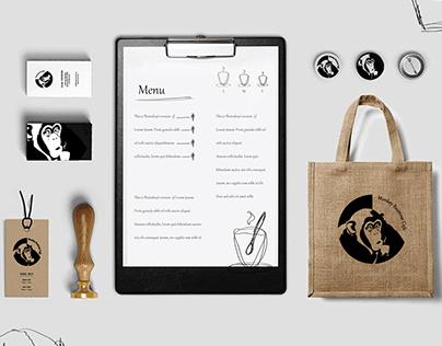 Monkey Business Cafe - identyfikacja wizualna
