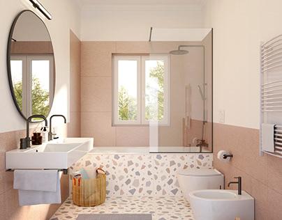 THREE DESIGNS FOR A BATHROOM   GENOVA   PRIVATE CLIENT