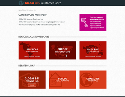 Global Customer Care Page - IHG