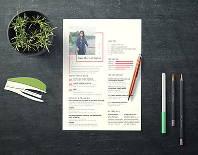 Resume Design for Doctor