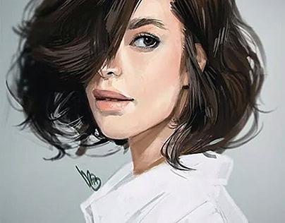 Digital Painting Art Girl