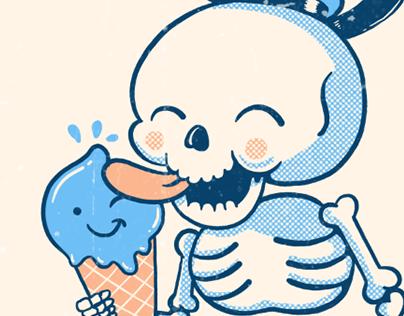 Summer Skulls Illustrations