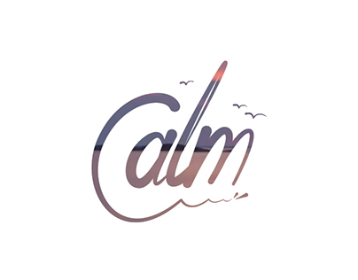"Lettering y audivisual ""Calm"""