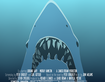 JAWS MOTION POSTER Original Poster Graphic