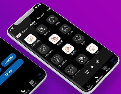 Sound Mix App UI/UX Design.