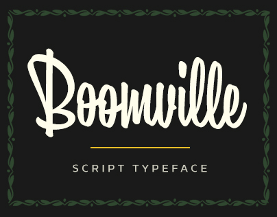 Boomville typeface