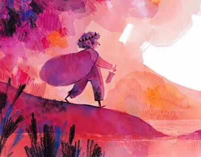 Purple series watercolor