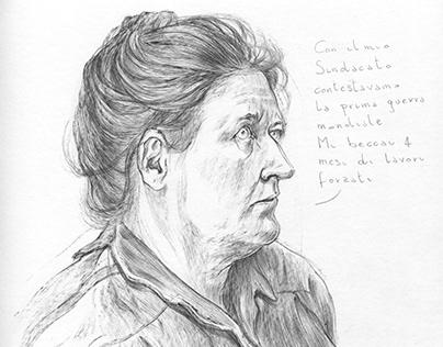 Portrait of revolutionary woman