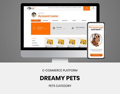 Dreamy Pets - UI/UX