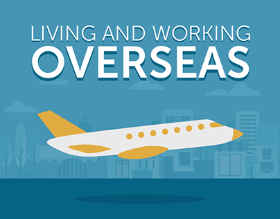 Guide to Living and Working Overseas Infographic