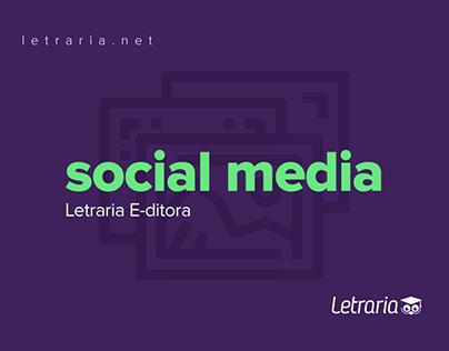 Social media   Letraria E-ditora