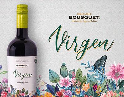 Virgen · Etiqueta de Vino