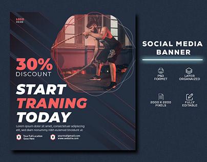 Social media banner template || GYM Banner