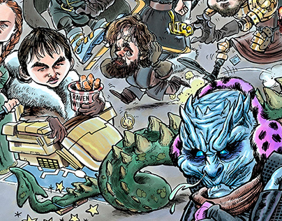 Game of Morons caricature