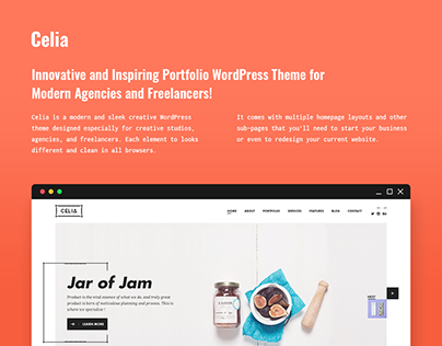 Celia - Innovative Portfolio WordPress Theme