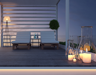 """Roof terrace """"Forest"""""""