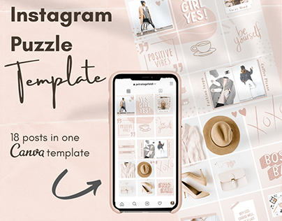 Instagram Puzzle Feed CANVA Template
