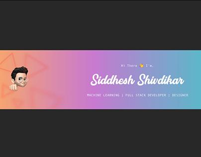 Minimalist profile banner