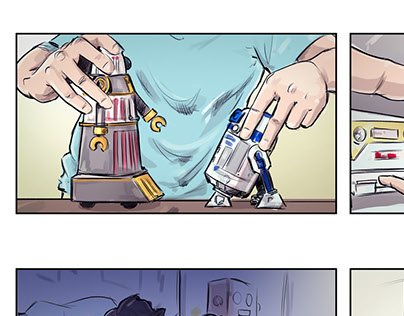 three agency Storyboards for TVCs