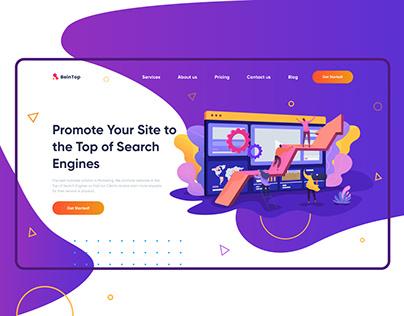 Digital agency website - UX/UI - design