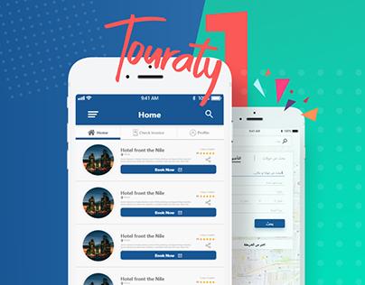 Touraty1 App - UI/UX
