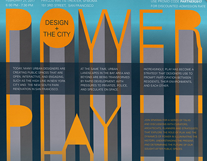 Power Play: Design & The City | Poster Design