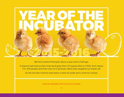 Prototyze Year of the Incubator