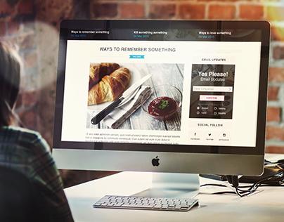 Food Lovers Blog Redesign