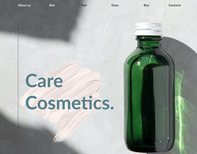 CareCosmetics (concept) online cosmetics store design.