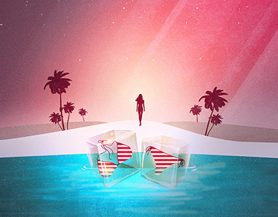 Bikini Beach   Digital Art