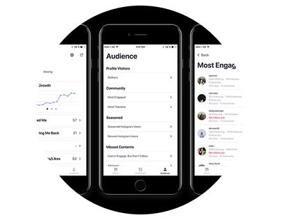 IGTracker - Instagram Tracking Application UI Design