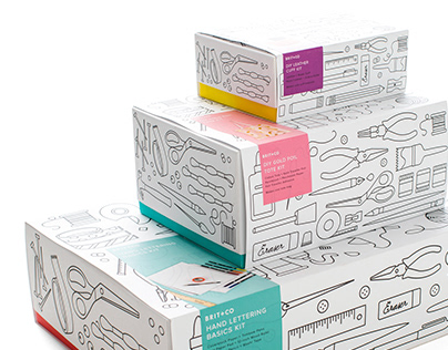 "Brit+Co ""Coloring Book"" DIY Kit Packaging"