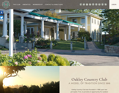 Oakley Country Club homepage design concept