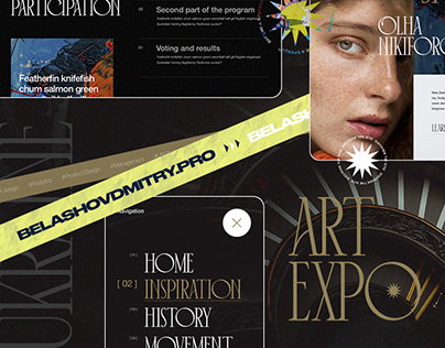 Website design for an art expo
