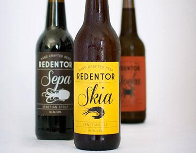 "Immagine Coordinata per birra artigianale ""Redentor"""