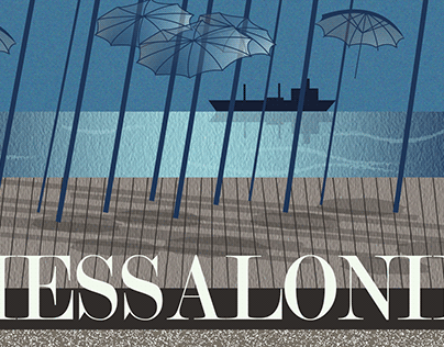 CITY/TRAVEL POSTER FOR THESSALONIKI, GREECE