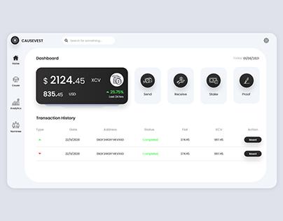 Minimal Cryptocurrency Exchange Paltform Dashboard