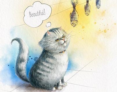 The cat Barsik. Character design for children's book