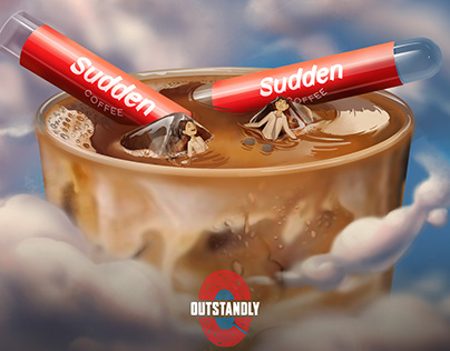 Sudden coffe Ad illustration