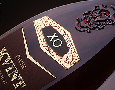 """KVINT"" brandy -branding, bottle design, label design"