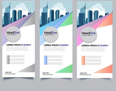 simple mordern roll up banner design