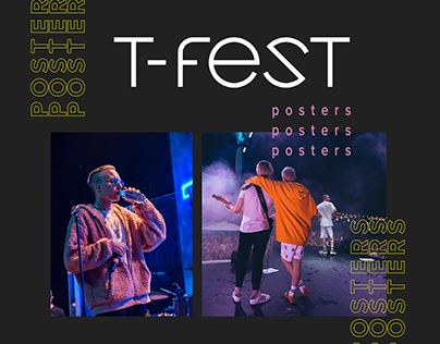 Posters for concert T-FEST