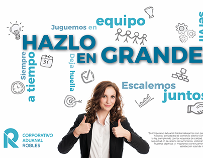 Corporate poster graphic design/Diseño gráfico poster
