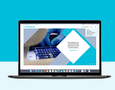 Landing Page for medical laboratory